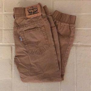 Levi Strauss & Co. Boys Khaki Jogger Pants
